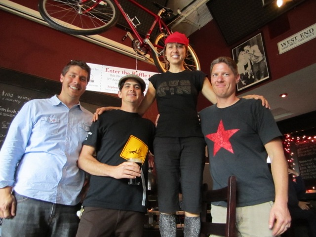 Alley Cat Race- Lucky Hilary won the bike from Bike Czar