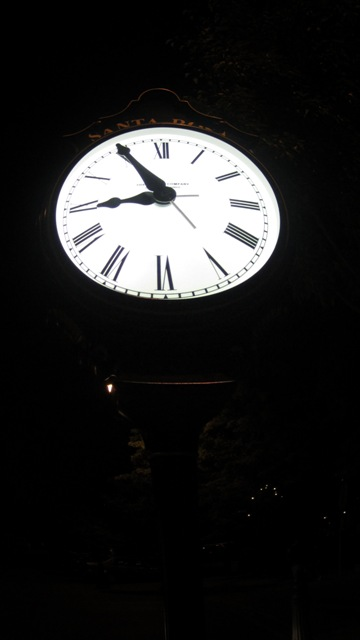 The new street clock