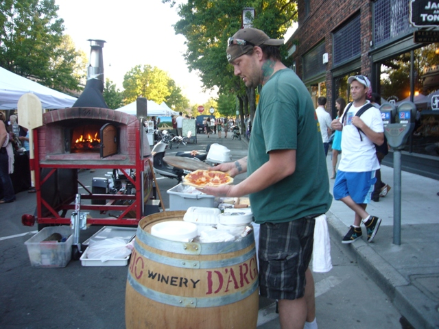 Portable Pizza oven at Summer nights