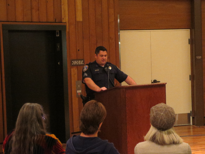 Sgt. Brad Conners at Nov Meeting