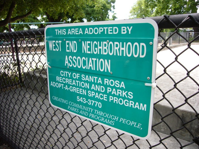 The West End Neighborhood takes care of their parks