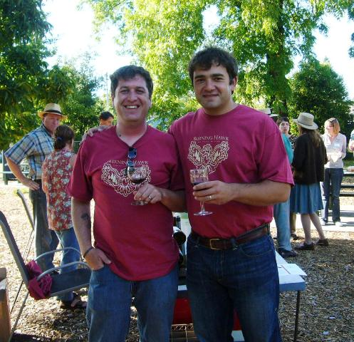 Burning Hawk Wines poured by Scott & Nick