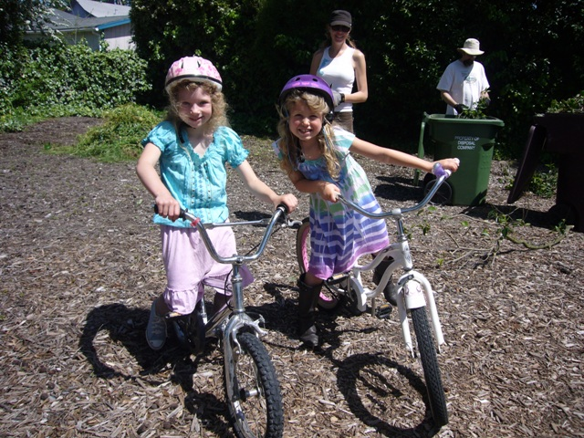 Two darling bike riders