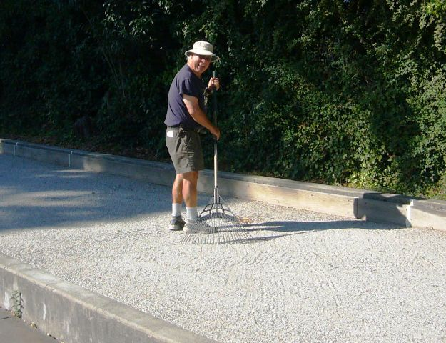 Guy Dean is back from Sailing and ready to play bocce