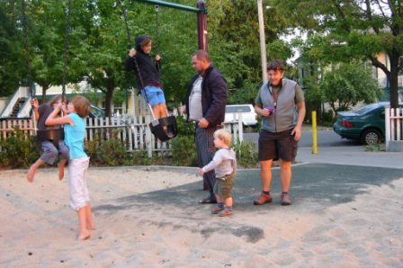 Action at the swings