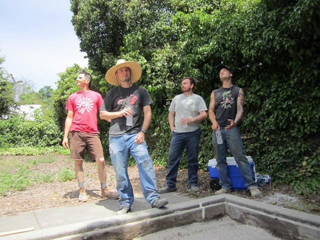 2011 Bocce court clean up crew