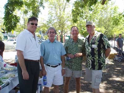 Don, Steve, John and Allen mingle at the BBQ