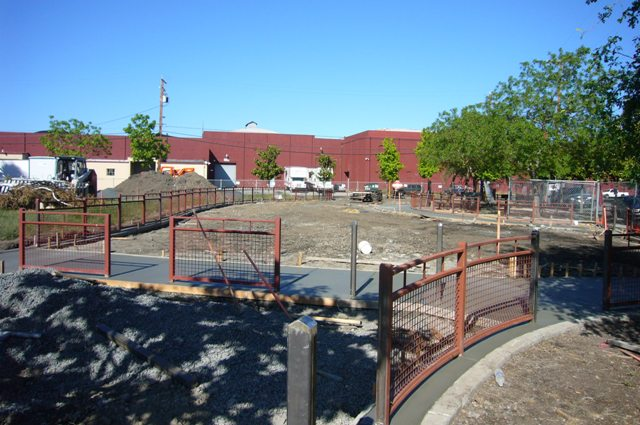 5-11 Concrete around dog park goes in