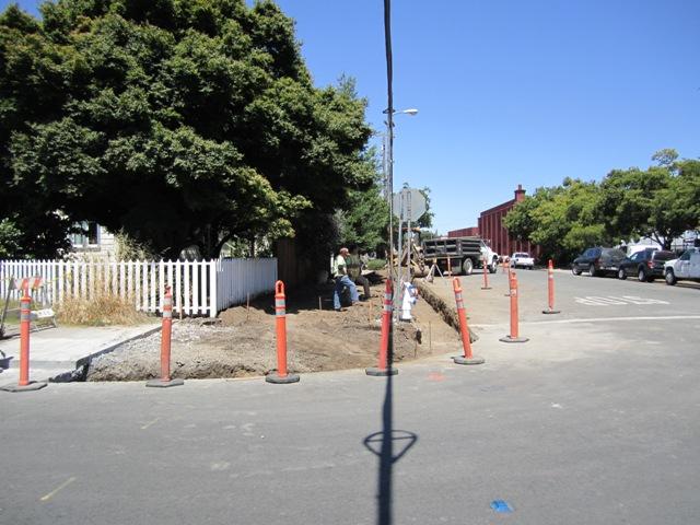 Sidewalk improvements Donahue and W. 8th