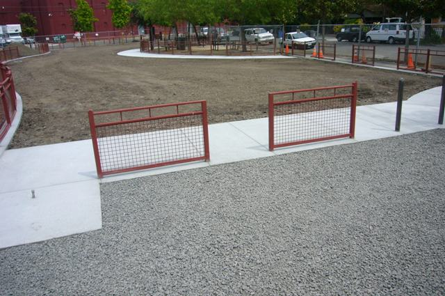Dog Park entry area May 16th