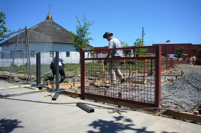 May 6th New dog park fence goes up!