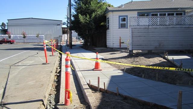 New sidewalk on Donahue Street