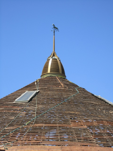 The top of the barn on August 4th, 2010