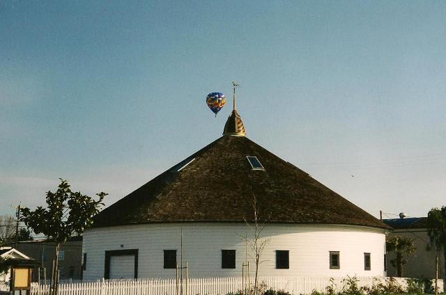 Balloon by barn 2002