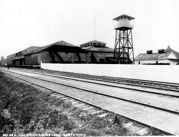 DeTurk Round Barn with DeTurk Winery in front 1895-6