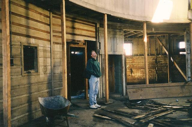 Inside the barn 1999