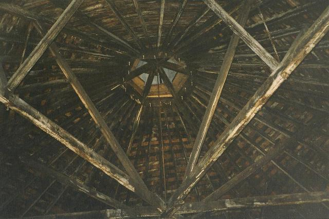 Interior ceiling in 2002