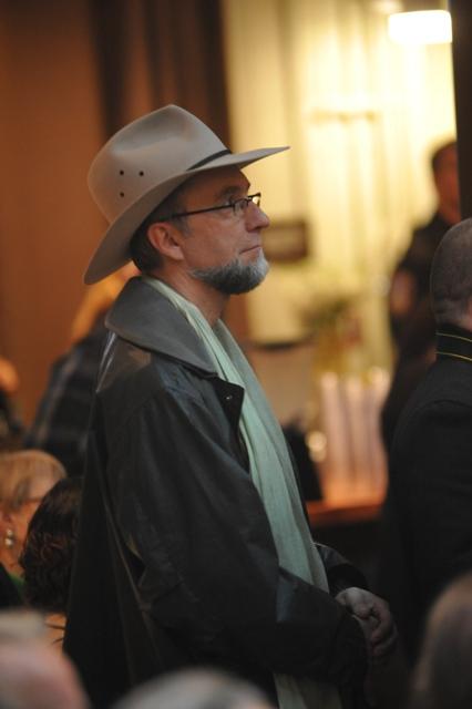Kernan Coleman observes the opoening by Ben Rosales
