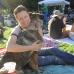 Jen & Lena enjoy Juilliard Park