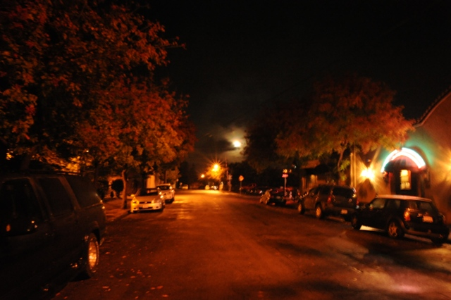 The Full moon over W. 7th Street By B. Rosales