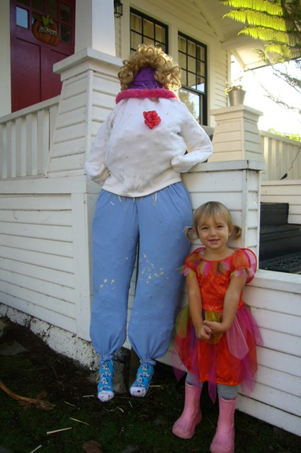 Chloe and Grandma Scarecrow