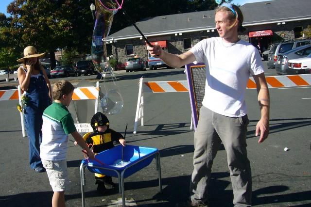 Railroad SCARE- Big kids like bubbles too
