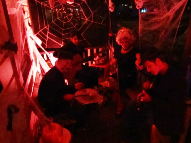The Corpse Orchestra played to the spook delight of trick or treaters.