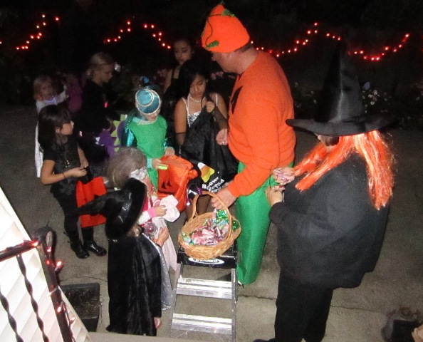 We had glowy things and candy for everyone.