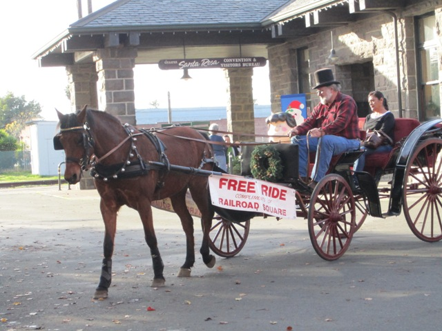 Old fashioned horse & carriage rides