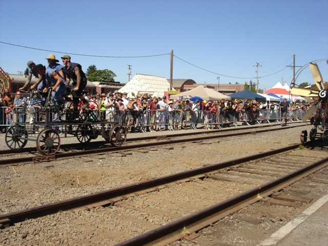 Whiskey Drunk Cycles on the Rails