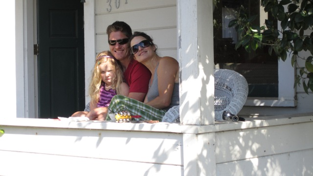 West End families sat on their porches to watch