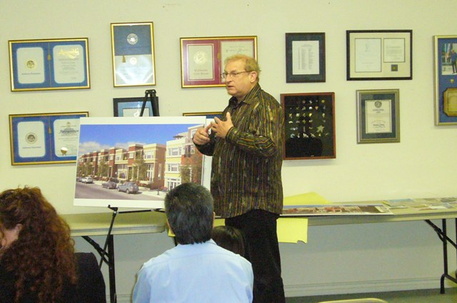 Rick Deringer shows West End Village plans