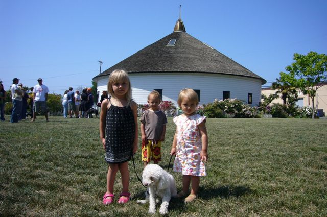 West End Babies and the barn