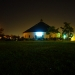 The beautiful barn at night
