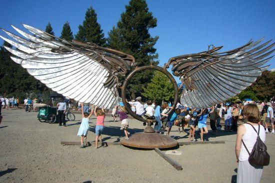 Burning Man Art at Regatta