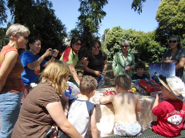 A birthday party at DeMeo Park