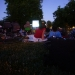 Neighbors enjoying the West End Movie night at DeMeo Park