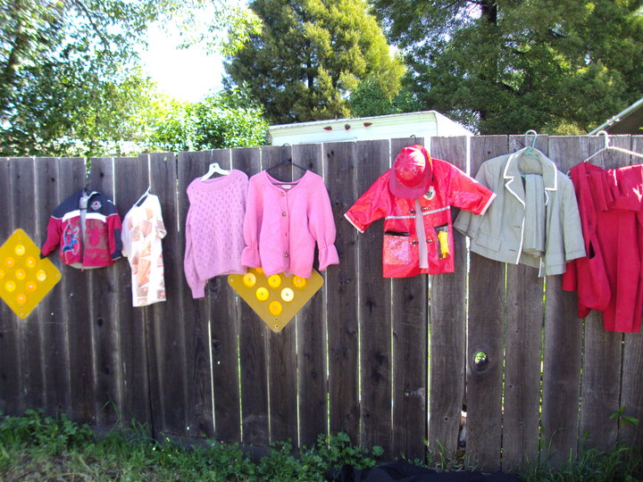 An artfully displayed yard sale photo by Maggie O\'Brien