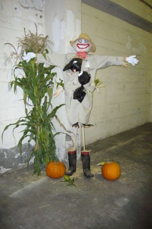 Award winning scarecrow, Willy
