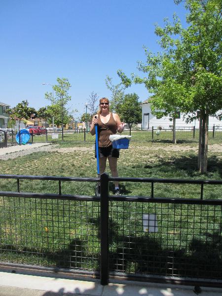 Cherie, our dog park angel