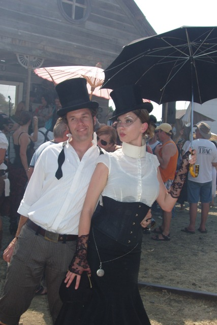 A costumed couple