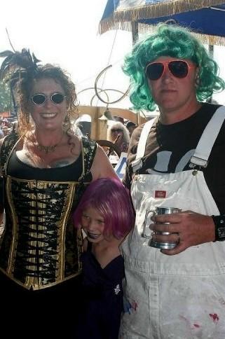 West Enders Carol, Dave & Lilly- in their Regatta attire