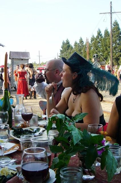 Dan and Jenn feast