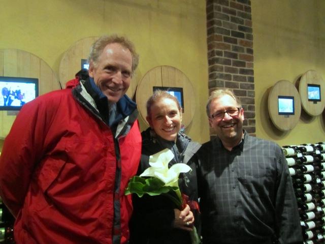 Betsy\'s birthday at Cellars of Sonoma, husband Gene and Scott Jordan