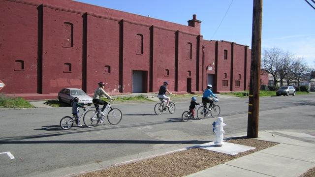 A lovely neighborhood for a bike ride.