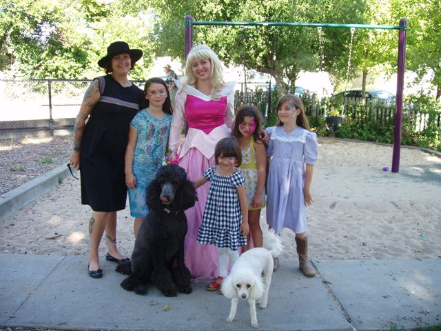 A beautiful princess party at DeMeo Park