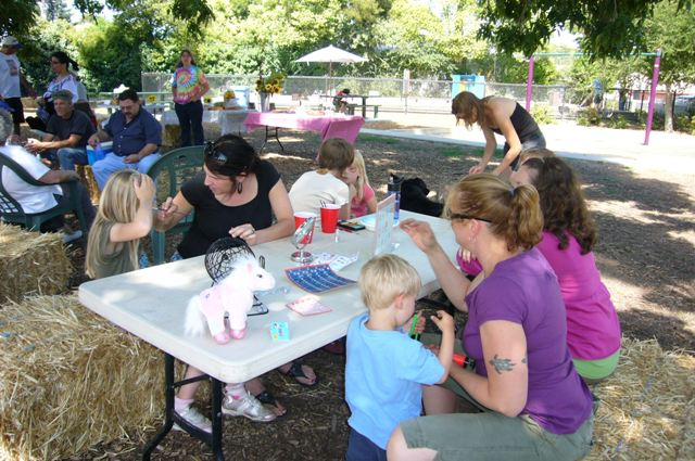 The face painting table