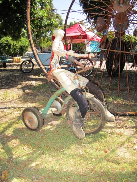 Gina\'s vintage bicycle sculpture