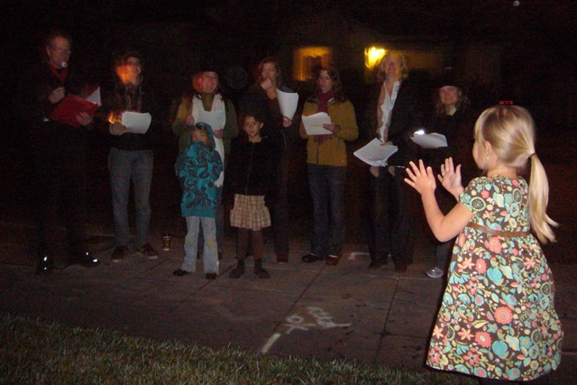 Christmas Carolers, lights and a new website