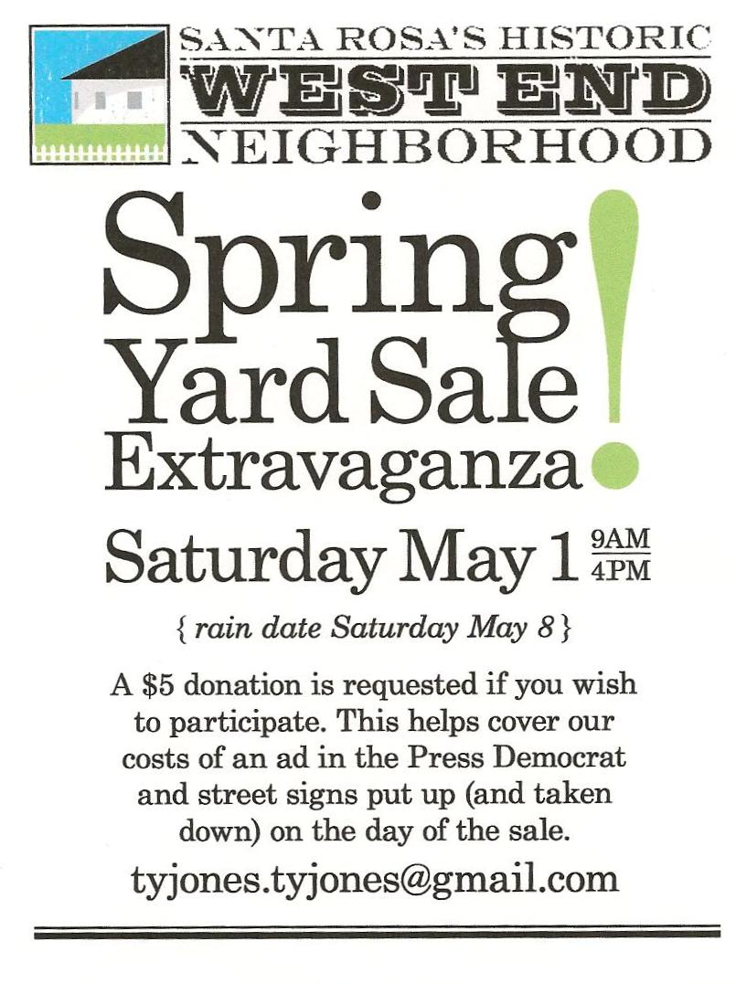 W. E. Yard Sale This weekend
